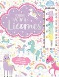 1, 2, 3 soleil ! - Mon livre d'activités licornes - Des cartes détachables et plus de 300 stickers avec 5 crayons empilables.