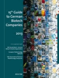 15th Guide to German Biotech Companies 2013.