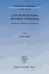 § 216 StGB als Verbot abstrakter Gefährdung - Versuch der Apologie einer Strafnorm.