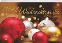 24 liebe Weihnachtsgrüße - Postkartenbuch.