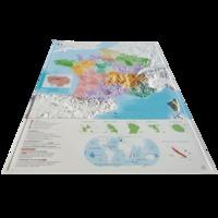 3D Map - Carte en relief de la nouvelle France administrative - 1/2 000 000 + Jeu de 6 cartes muettes à télécharger et imprimer.