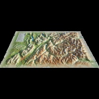 3D Map - Carte en relief de la Savoie.