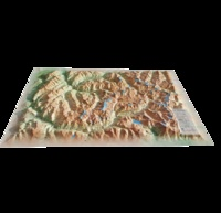 3D Map - Carte en relief de la Vanoise - 1/150 000.