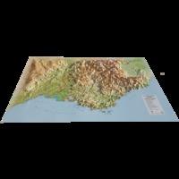 3D Map - Carte en relief de PACA - 1/700 000.