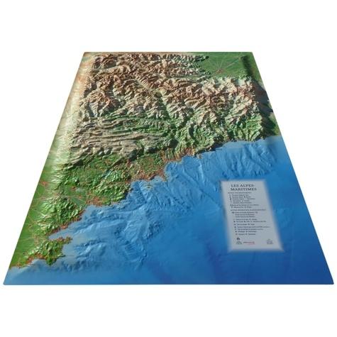 3D Map - Carte en relief des Alpes Maritimes et ses fonds marins - 1/280 000.