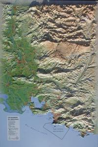 3D Map - Carte en relief des massifs de Provence - 1/310 000.