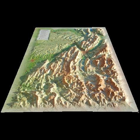 Carte En Relief Des Pnr Vercors Chartreuse 1 220 000