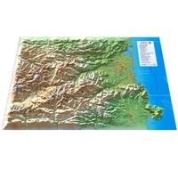 3dmap - Carte en relief des Pyrénées-orientales - 1/240 000.