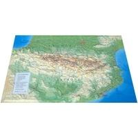 3dmap - Carte en relief des Pyrénées - 1/800 000.