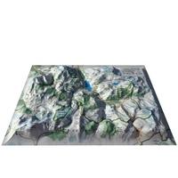3D Map - Carte en relief des stations de Tignes-Val d'Isère - 1/95 000.