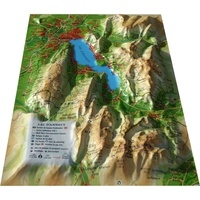 3D Map - Carte en relief du lac d'Annecy - 1/120 000.