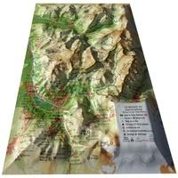 3D Map - Carte en relief du Massif du Haut-Giffre (réserve de Sixt-Passy) - 1/120 000.