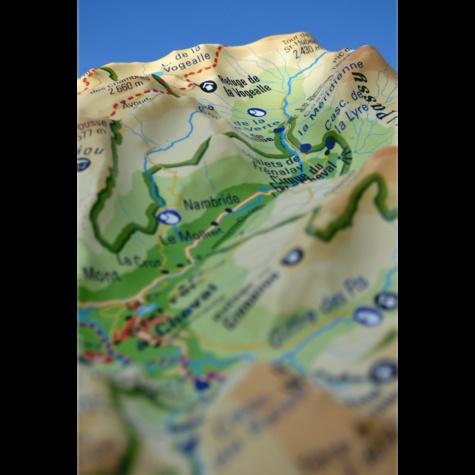Carte en relief du Massif du Haut-Giffre (réserve de Sixt-Passy). 1/120 000