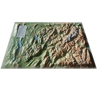 3D Map - Carte en relief du Mont Blanc et sa région - 1/210 000.
