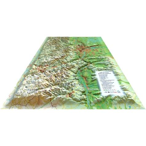 Carte en relief du parc du pilat , Monts du lyonnais