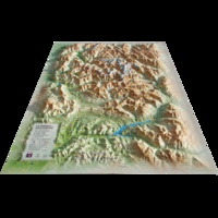 3D Map - Carte en relief du Parc national des Ecrins - 1/175 000.