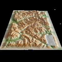 3D Map - Carte en relief du parc naturel régional du Queyras-Ubaye - 1/120 000.