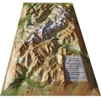3D Map - Carte en relief du Tour du Mont Blanc - 1/200 000.