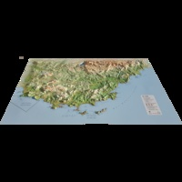 3D Map - Carte en relief du Var - 1/275 000.