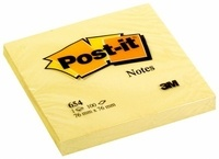 3M - Bloc Post-it jaune 100 feuilles notes repositionnables 76x76mm