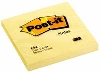 3M FRANCE - Bloc Post-it jaune 100 feuilles notes repositionnables 76x76mm