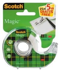 3M FRANCE - Distributeur avec ruban de bureau transparent - Scotch Magic - 19 mmx25m