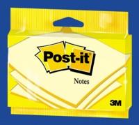 3M FRANCE - NOTES POST-IT® JAUNES EN SACHET, 76 X 127 MM