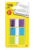 3M - Lot 3x20 Marque-Pages Post It Index violet bleu vert