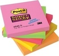 3M - Lot 4 blocs Post-it + 1 gratuit 76x76 - Super Sticky 3M