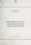 École internationale de Bordea - Financement de l'habitat social urbain dans les pays en développement.