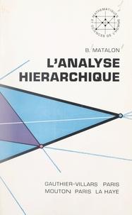 École Pratique des Hautes Étud et Benjamin Matalon - L'analyse hiérarchique.