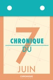 Éditions Chronique - Chronique du 7  juin.