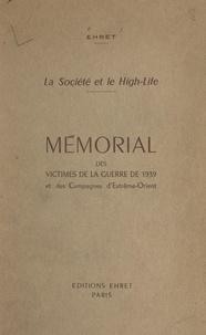 Émile Ehret et Armand d'Harcourt - Mémorial des victimes de la guerre de 1939 et des campagnes d'Extrême-Orient.