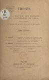 Émile Levas - Contribution à l'étude des propriétés catalytiques du fluorure de bore. Étude de la condensation du cyclohexène et de l'épichlorhydrine avec les phénols - Thèses présentées à la Faculté des sciences de l'Université de Paris pour obtenir le grade de docteur ès sciences physiques.
