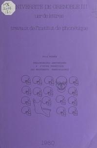 Éric Bognár et  Institut de phonétique - Préliminaires anatomiques à l'étude phonétique des mouvements mandibulaires.