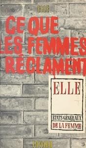États Généraux de la Femme et Jean Mauduit - Ce que les femmes réclament.