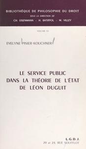 Évelyne Pisier-Kouchner et R. Pichon - Le service public dans la théorie de l'État de Léon Duguit.