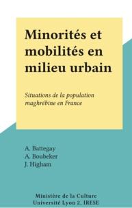 A. Battegay et A. Boubeker - Minorités et mobilités en milieu urbain - Situations de la population maghrébine en France.