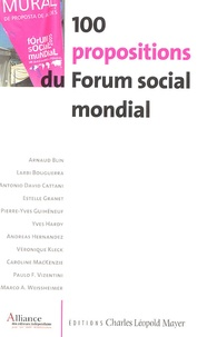 A Blin - 100 Propositions du Forum social mondial.