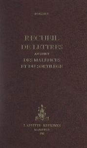 A. Boissier - Recueil de lettres au sujet des maléfices et du sortilège.