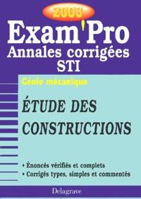 Etude des constructions Bac STI Génie mécanique. Annales corrigées 2003.pdf