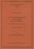A Chavasse - Les lectionnaires romains de la messe au VIIe et au VIIIe siècle, Sources et dérivés, en 2 volumes - Tome 1, Procédés de confection ; Tome 2, Synoptique général, Tableaux comparatifs.