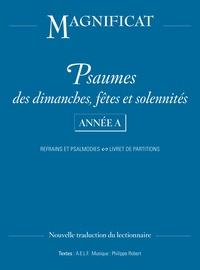 Psaumes dimanches, fêtes et solennités Année A - Refrains et paslamodies, livret de partitions.pdf
