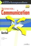 A Gaume et Marie-Pierre Le Mouëllic - Information et Communication 1e STG spécialité Gestion.