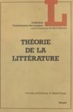A. Kibédi Varga et Benoît de Cornulier - Théorie de la littérature.