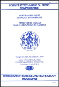 A-M Bredesen et  Collectif - Transfert de chaleur dans les frigorigènes naturels : Heat transfer issues in natural refrigerants.
