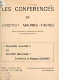 A. Moine et Georges Cogniot - Nouvelle société ou société nouvelle ?.