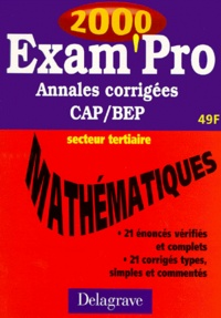 MATHEMATIQUES CAP/BEP SECTEUR TERTIAIRE. Annales corrigées 2000.pdf