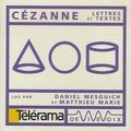 Paul Cézanne et Daniel Mesguich - Cézanne - CD audio.