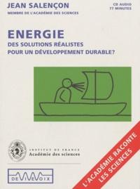 Jean Salençon - Energie. 1 CD audio